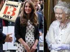 kate middleton due date: royal baby expected saturday july 13... right in the middle of the queen's coronation