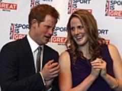 like father like son: prince harry echoes charles' concerns over 'visual impact' of turbines during denver reception at which he sang happy birthday to olympic swimming star missy franklin